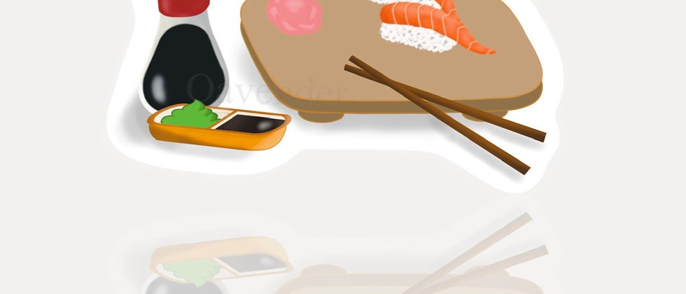Salmon Sushi Vinyl Sticker