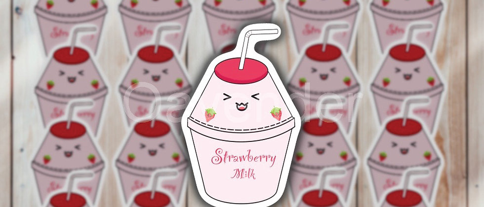 Strawberry Milk Vinyl Sticker