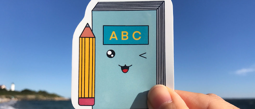 Book Vinyl Sticker