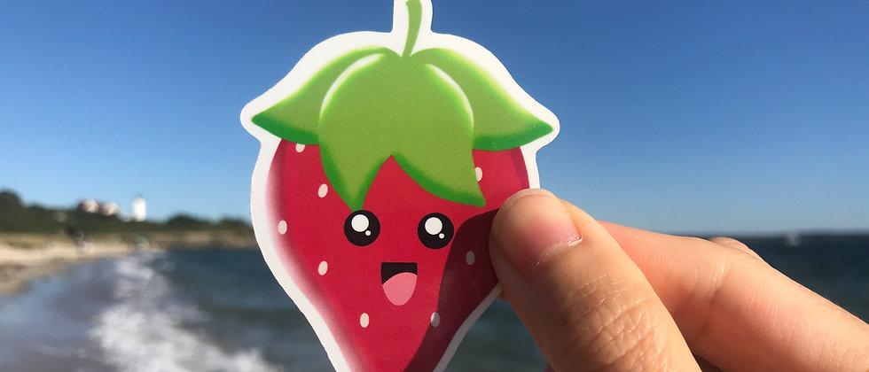 Strawberry Vinyl Sticker