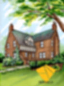 Custom home portrait of Tudor Style Architecture
