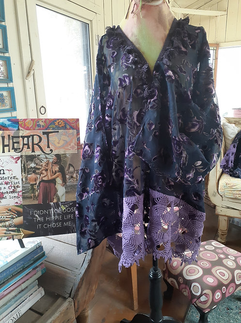 PURPLE ROSE OF CAIRO VAGABOND KIMONO JACKET