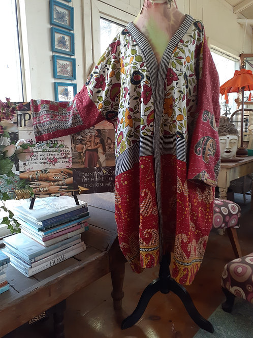GYPSY TRAVELLER REVERSIBLE KANTHA COAT