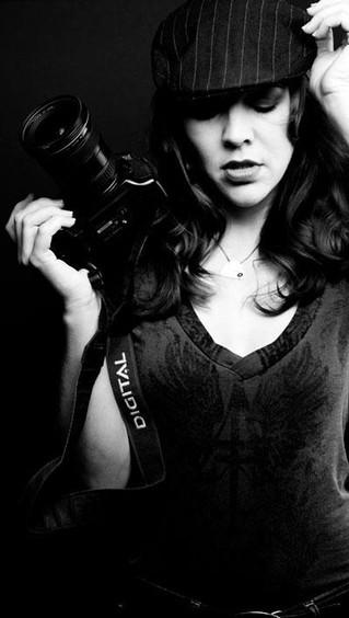 filmmaker Faleena Hopkins with her camer