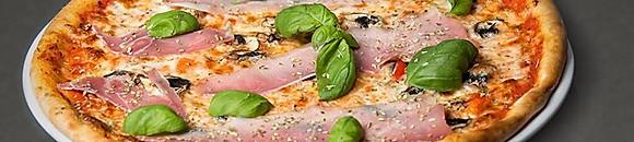 Mozzarellapizza 125:- Familjepizza 265:-