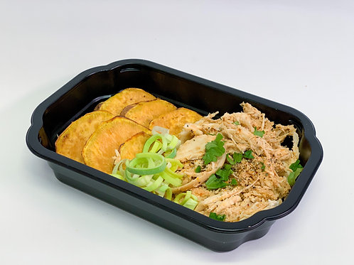 Box 14: Pulled chicken