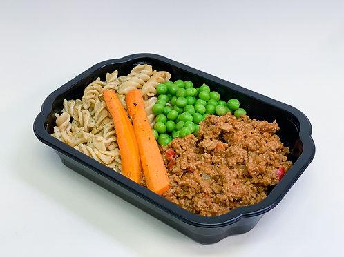 Box 4: Fullkornspasta med köttfärssås