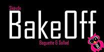 Bakeoff logotyp. Ät din lunch hos Bakeoff i Skövde. Vi har sallader, baguetter, pizzor, kebab, grillade smörgåsar och mycket annt. Välkommen!