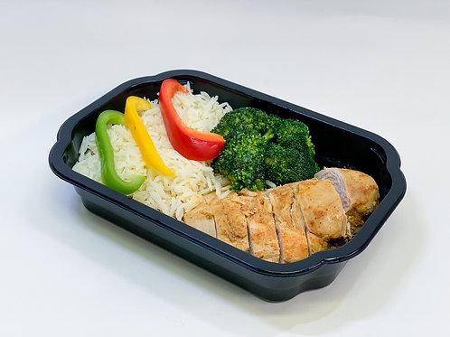 Box 1: Kycklingfilé med ris