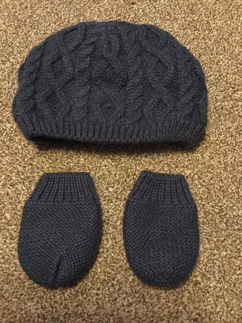 Blue Hat & Mittens 3 - 6 months