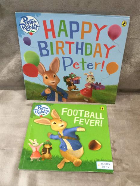PETER RABBIT HAPPY BIRTHDAY & FOOTBALL FEVER