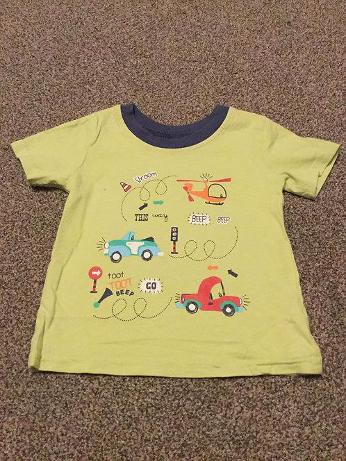 6 - 9 months Green Transport T - Shirt