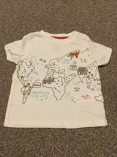 9 - 12 months White Safari Top