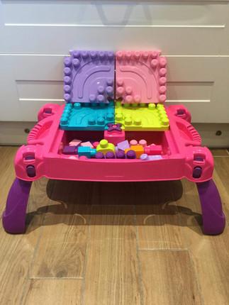 Pink Mega Bloks Table plus Bloks