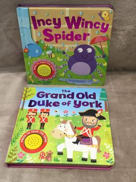 GRAND OLD DUKE OF YORK & INCY WINCY NOISE BOOKS
