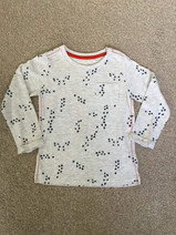 2 - 3 years MOTHERCARE Paw Print Long Sleeved Top