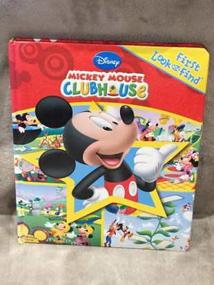 DISNEY MICKEY MOUSE CLUBHOUSE FIRST LOOK AND FIND ( LARGE )