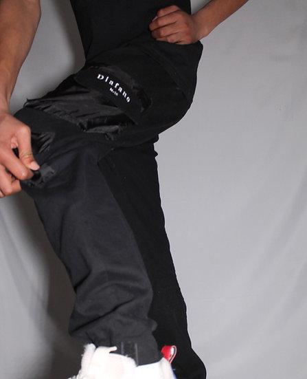 Pantalon technique noir style cargo
