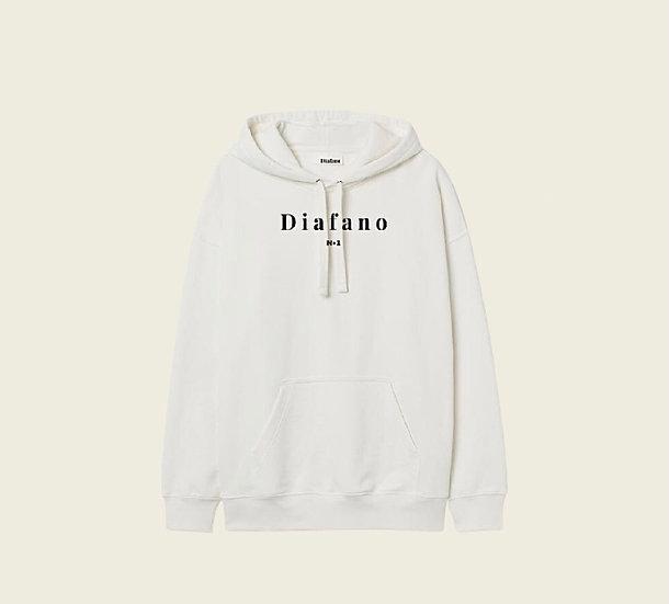 Hoodie «Diafano» crème