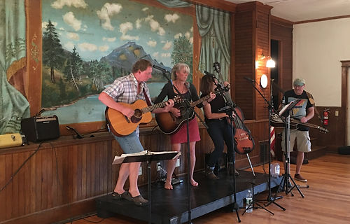 Christine Malcolm Band playing at Gihon Valley Hall