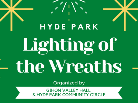 Hyde Park Lighting of the Wreaths