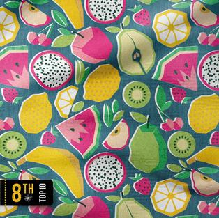Paper cut geo fruits