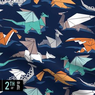 Origami dragon friends