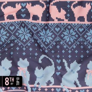 Fair isle knitting cats love