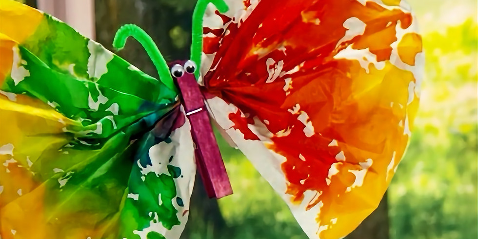 POSTPONED UNTIL FURTHER NOTICE! Tissue Paper Flowers and Butterflies For Parades & Festivals (10am-12pm)
