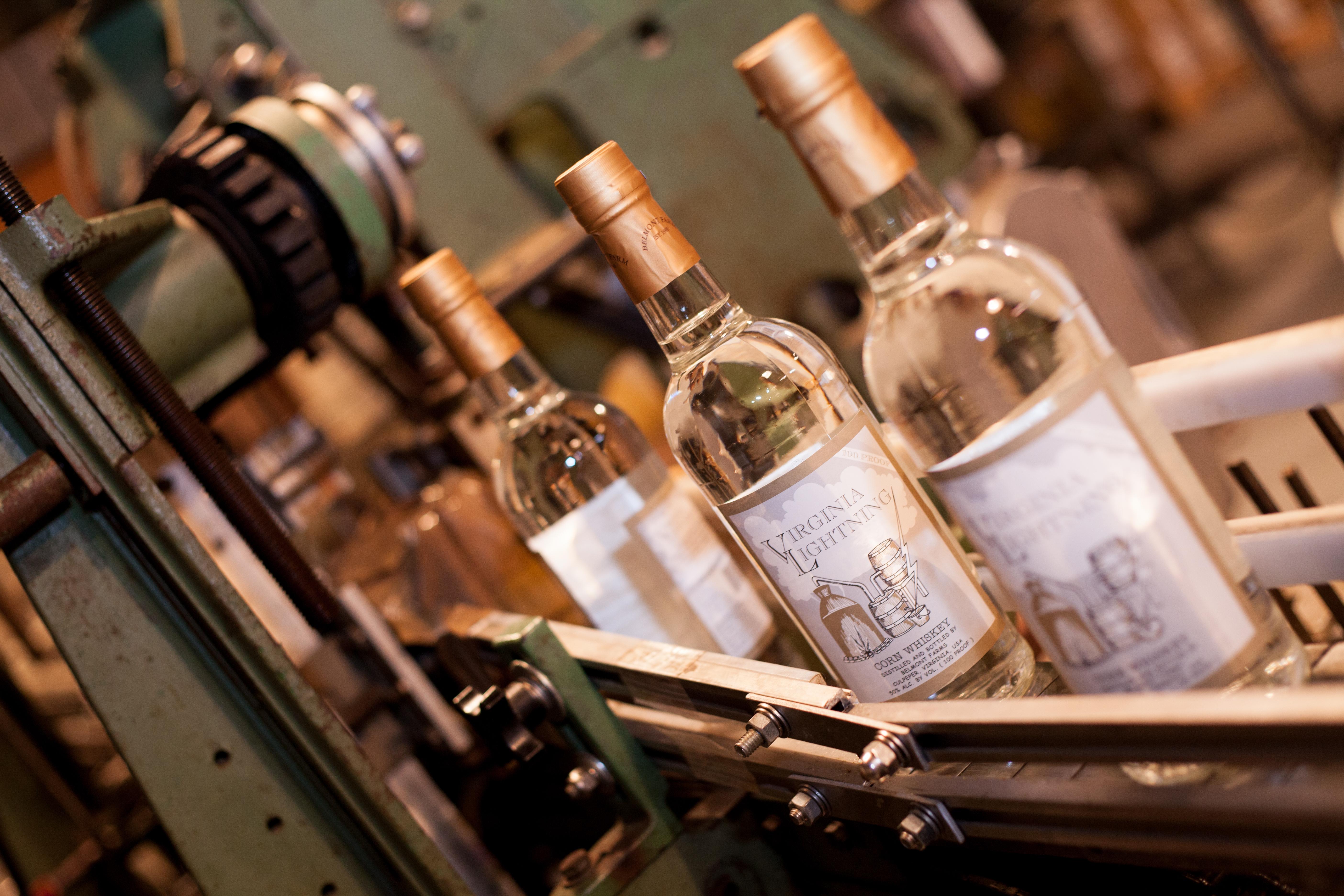 Virginia Lightning on the bottling line