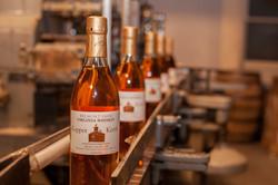 Whiskey on the bottling line