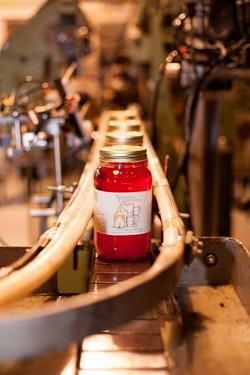 Cherry Moonshine on the bottling line
