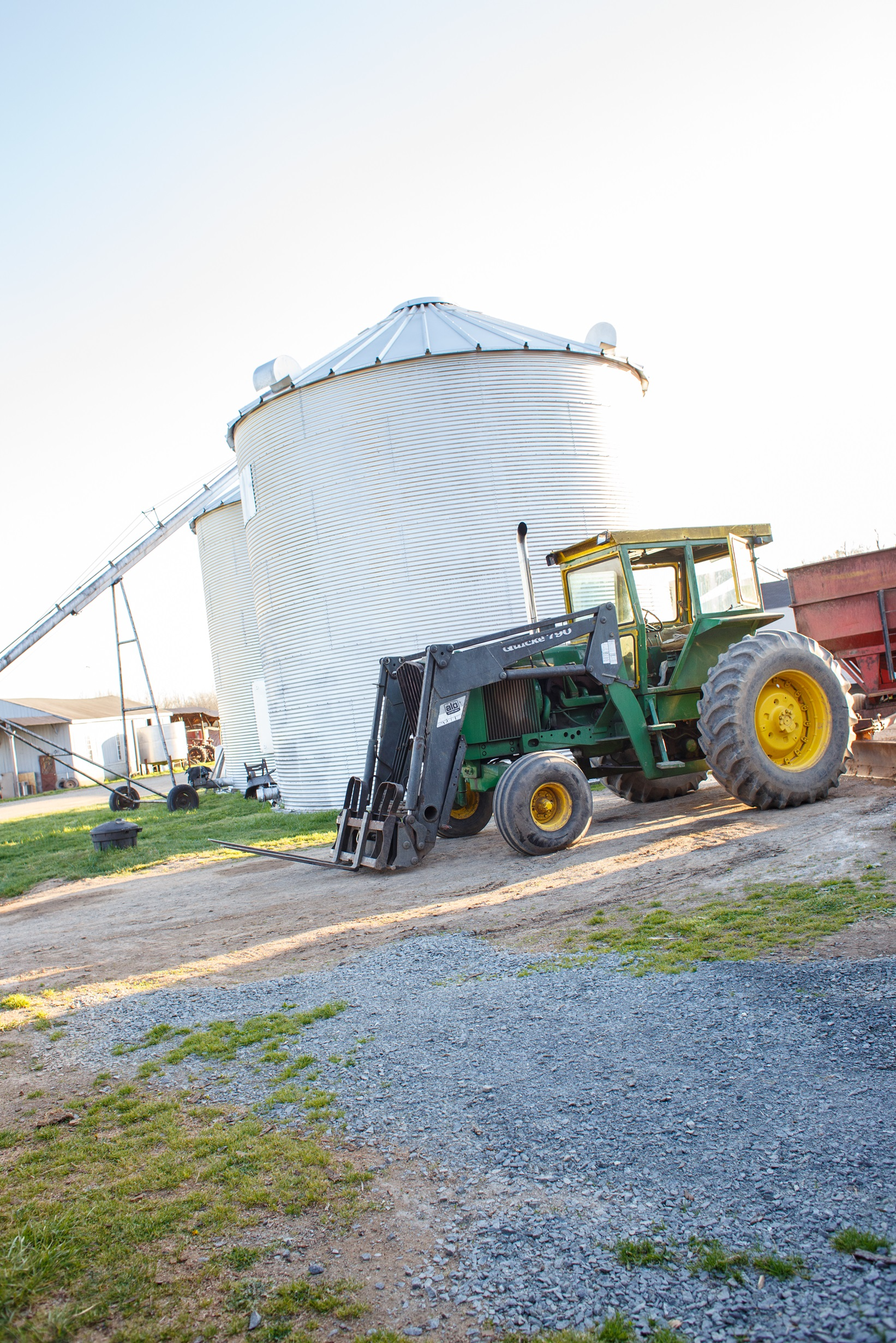 Our grain silos and tractor