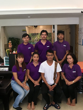 Khun Arm with staff members