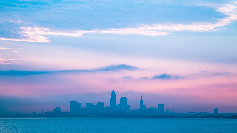 Downtown Cleveland in cloudy day.i took