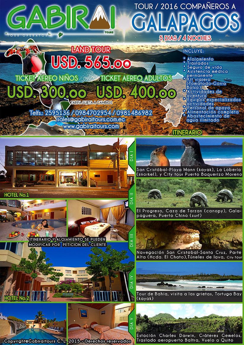 viajes de escuelas a Galapagos