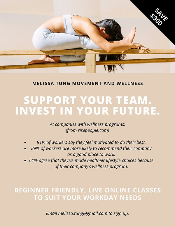 Melissa Tung Corporate Yoga - Triang pose