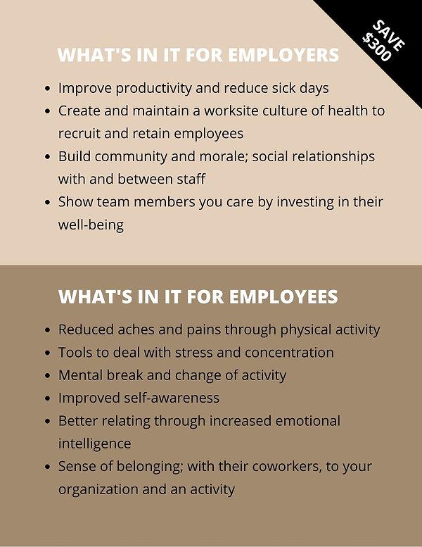 Melissa Tung Corporate Yoga - benefits