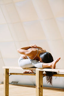 Melissa Tung Corporate Yoga - Triang hands back pose