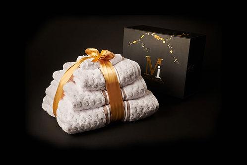 Bear White Towel Set