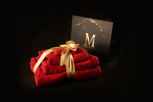 Passionate Red Towel Set