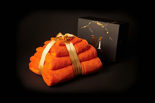 Sunshine Orange Towel Set