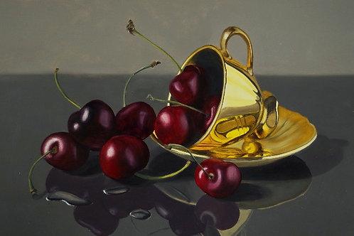 Cherry tea Begins At Home - Ltd Edition Print