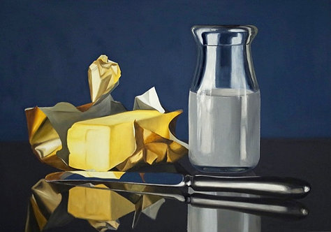 It Gets Butter - Original Oil Painting