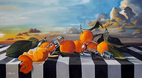 Watt Rhymes With Orange? - Original Oil Painting