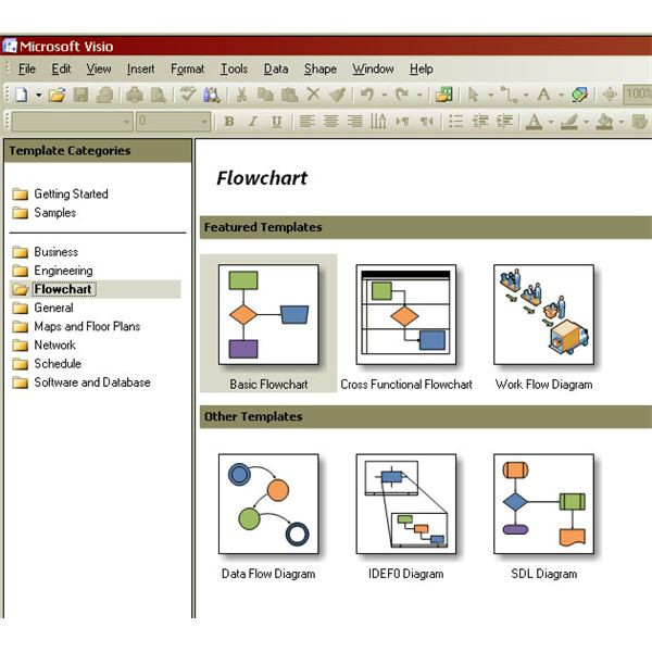 processing maps in Visio