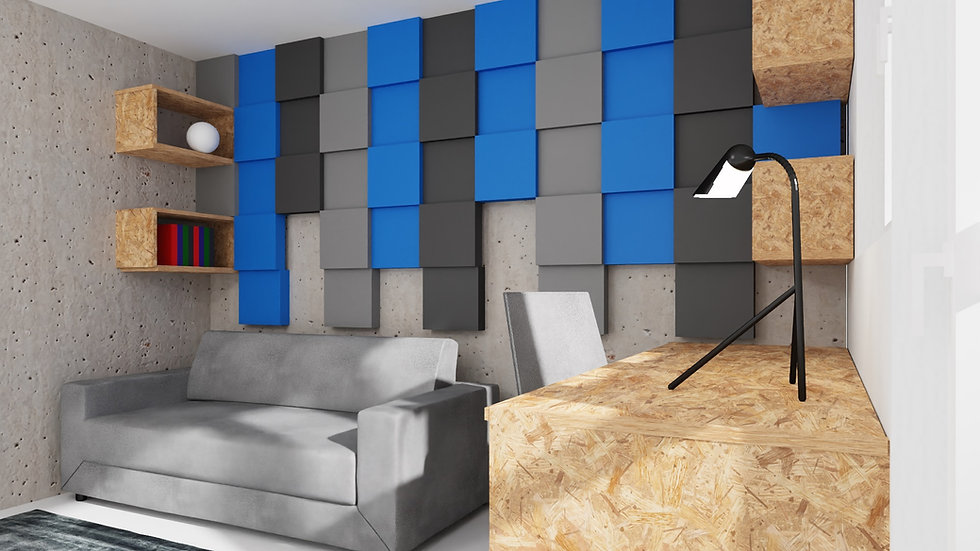 New Wall Baten - kolor Niebieski 1m2