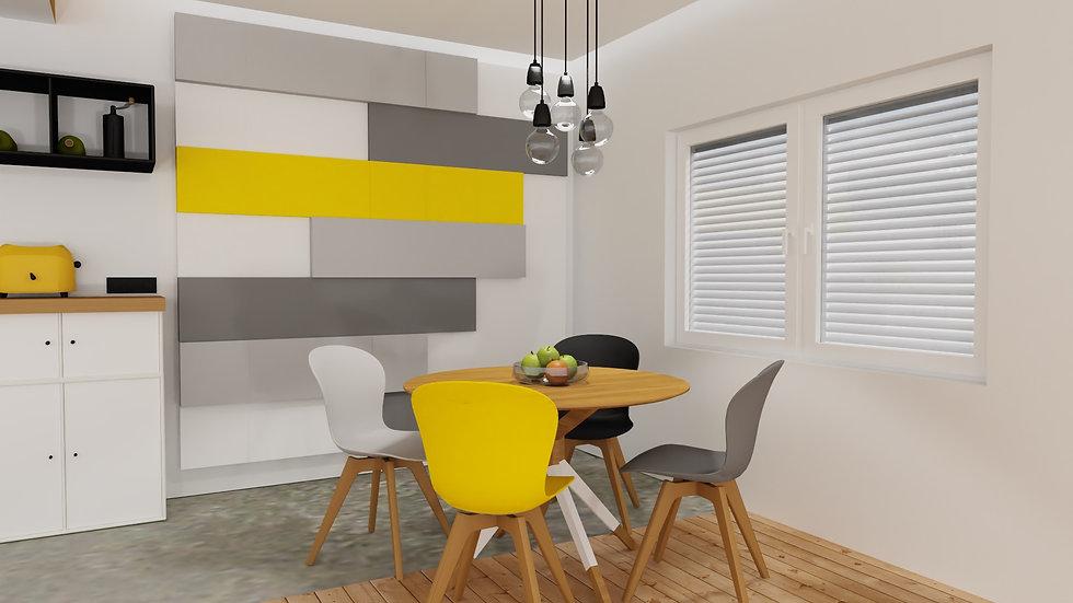 New Wall Baten - kolor Żółty 1m2