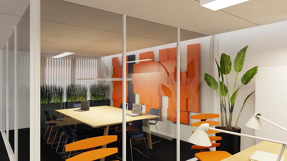 New Wall Baten - kolor Pomarańczowy 1m2
