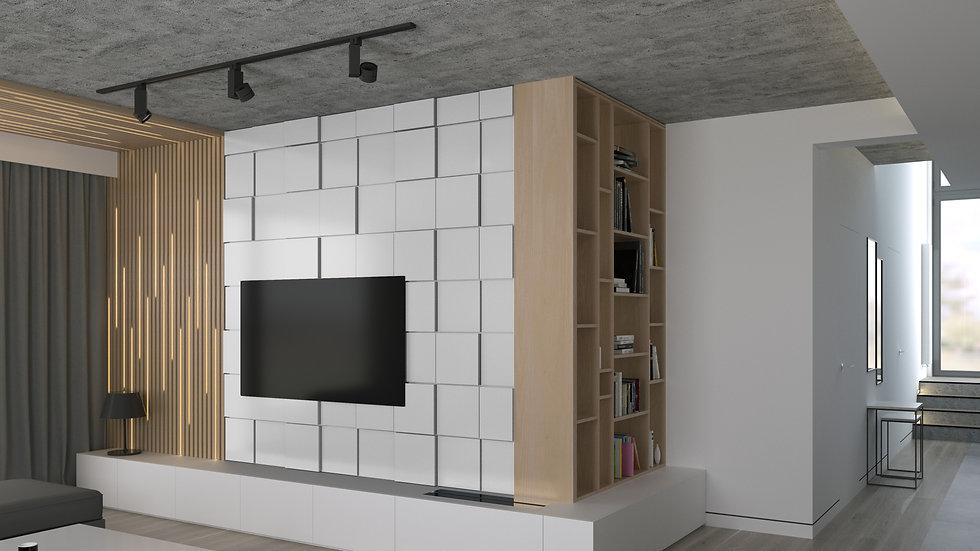 New Wall Baten - kolor Biały 1m2